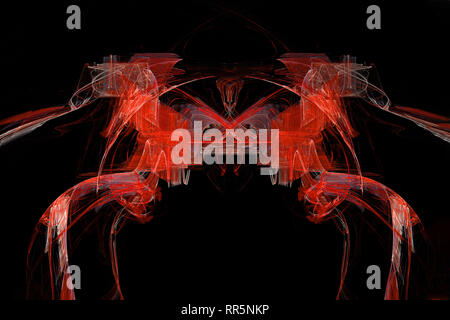 I cavalli rossi abstract fractal artistica Foto Stock