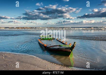 Spiaggia di Boccasetta Beach in Po-Delta nel Nord Italia