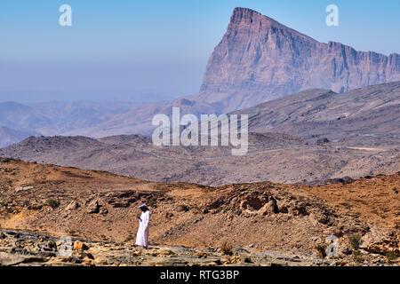 Il sultanato di Oman, Regione Ad-Dakhiliyah, Jebel Shams Foto Stock