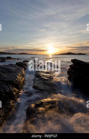 Spiaggia rocciosa a Sheigra, Sutherland Foto Stock