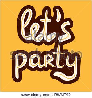 Consente parti scritte a mano su sfondo colorato. Bellissimo design vettoriali per la Postcard, banner, T-shirt, poster. Foto Stock
