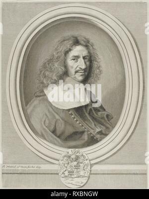 Louis Hesselin. Robert Nanteuil; francese, 1623-1678. Data: 1658. Dimensioni: 328 × 257 mm. Incisione su carta. Provenienza: Francia. Museo: Chicago Art Institute.