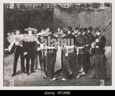 L'esecuzione dell'Imperatore Massimiliano, 1867. Edouard Manet (Francese, 1832-1883). Litografia Foto Stock