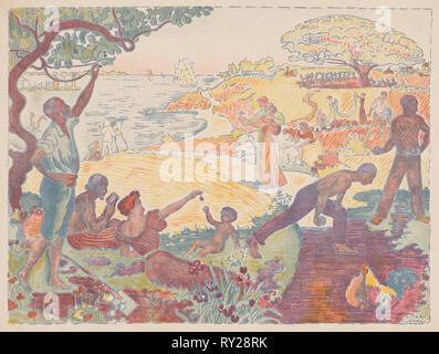 Tempi di armonioso, 1895-1896. Paul Signac (Francese, 1863-1935). Litografia a colori; foglio: 50 x 37,6 cm (19 11/16 x 14 13/16 in Foto Stock