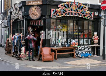 Negozio Vintage in Margate Città Vecchia Kent REGNO UNITO Foto Stock