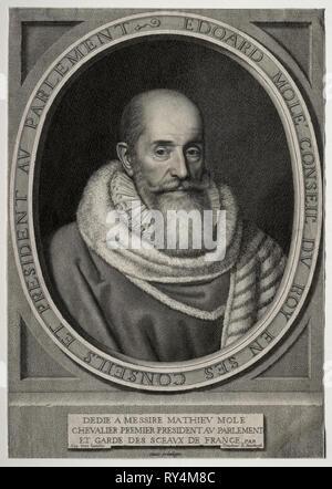 Edouard Molé. Robert Nanteuil (Francese, 1623-1678). Incisione