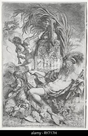 Il genio di Castiglione, 1648. Giovanni Benedetto Castiglione (Italiano, 1609-1664). Attacco Foto Stock