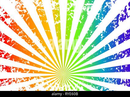 Grunge background sunrise - arcobaleno Foto Stock