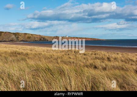 San Ciro Beach, San Ciro Riserva Naturale Nazionale, Aberdeenshire, Scozia. Foto Stock