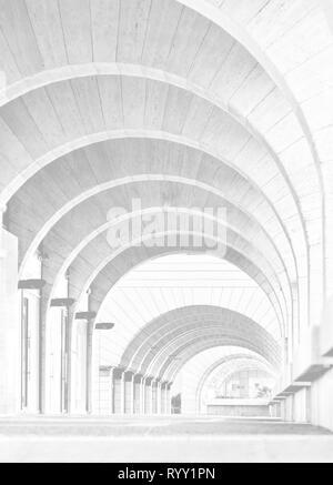 Tel Aviv, Israele - 28 Aprile 2018: architettura contemporanea: Archway Arcade edificio moderno,Architecture Photography
