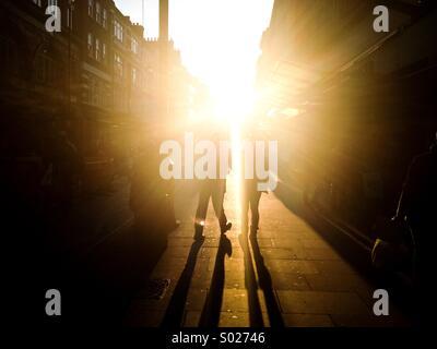 Una forte luce solare in Londra Foto Stock