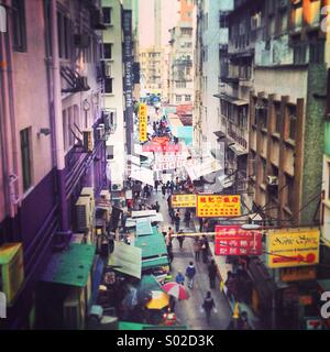 Gage St, Centrale di Hong Kong Foto Stock