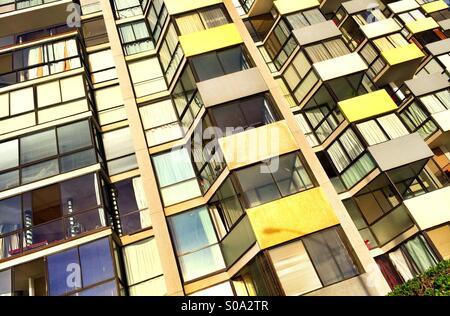 Facciata di edificio a Vina del Mar, Cile