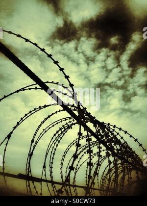Stagliano barbwire Multan Pakiatan Foto Stock