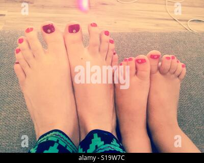 Matching estate toenails Foto Stock