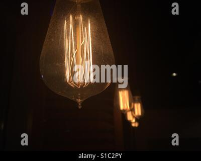 Vecchie lampadine vintage Foto Stock