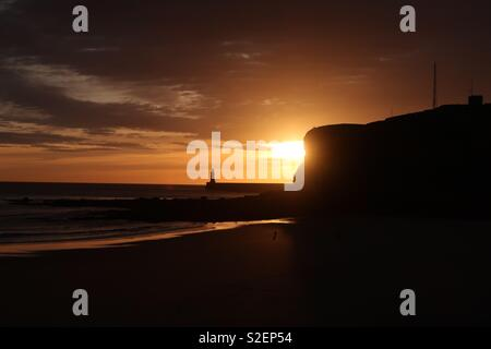 Sunrise Tynemouth Foto Stock