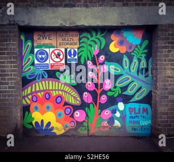 East London Street Art, Hackney, Londra Foto Stock