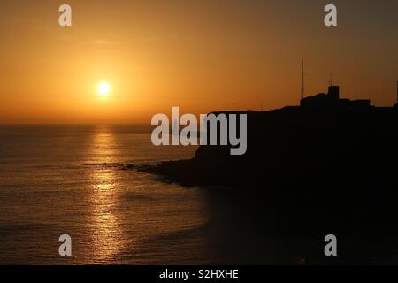 Sunrise a Tynemouth Foto Stock