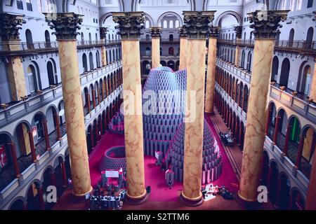 Alveare in mostra a Palazzo Nazionale Museum-Washington, DC Foto Stock