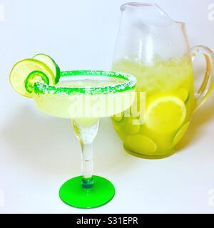 Cucumber Margarita Piccante Foto Stock