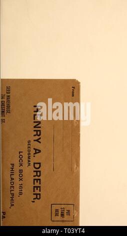 Dreer all'ingrosso listino prezzi / Henry A. Dreer. . Dreerswholesalep1912dree anno: Foto Stock