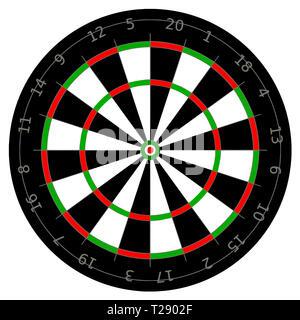 Classic bullseye raggiungimento target perfetta illustrazione dart Foto Stock