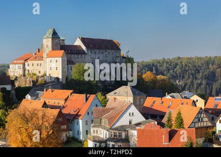 Castello Hohnstein in Sassonia, Germania, Europa