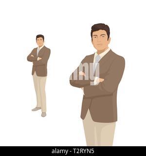 e07ad89c535f Imprenditore elegante in costume marrone. Il Boss, manager, imprenditore.  Persone di carattere