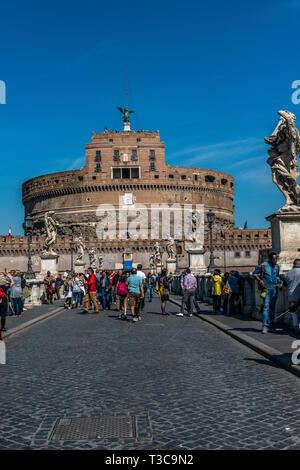 Castel del Santo Angelo, Roma, Italia Foto Stock