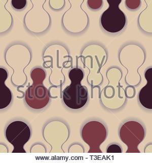 d278f6aaa1 Graphic seamless pattern con spine di forme globulari in sfumature di  marrone chiaro Foto Stock