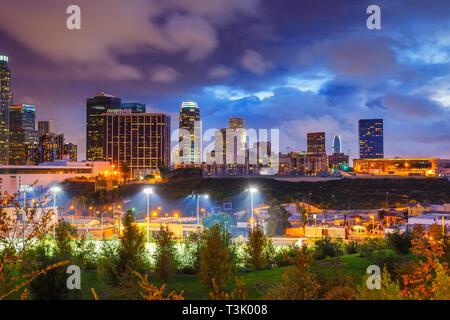 Los Angeles di notte, CA, Stati Uniti d'America