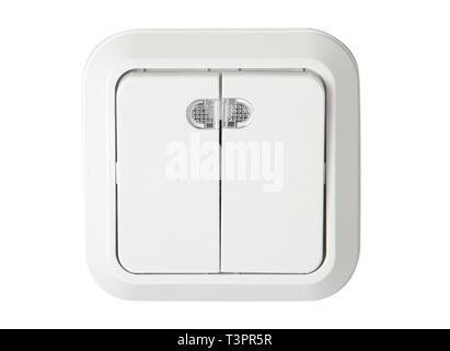 Switcher di alimentazione di energia elettrica on / off Foto Stock