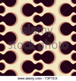 433f10139a Cerchi grafico nastri seamless pattern in sfumature di blu · Graphic seamless  pattern con spine di forme globulari in sfumature di marrone chiaro Foto  Stock