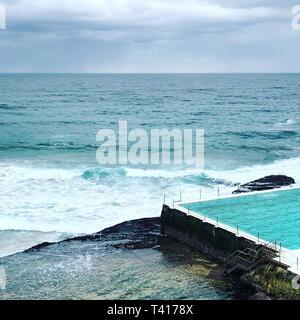 Bondi iceberg piscina, Sydney, Nuovo Galles del Sud, Australia Foto Stock