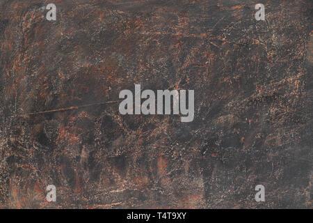 Marrone scuro dello sfondo a trama. Immagine ad alta risoluzione con una copia dello spazio. Vista superiore Foto Stock