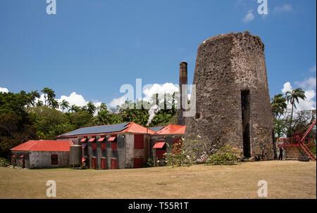 St Nicholas Abbey di canna da zucchero piantagione e una distilleria di rum in San Pietro, Barbados Foto Stock