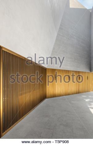 Dettaglio in bronzo all'entrata. Nuovo Teatro di Shanghai, Shanghai, Cina. Architetto: Neri&Hu, 2017. Foto Stock