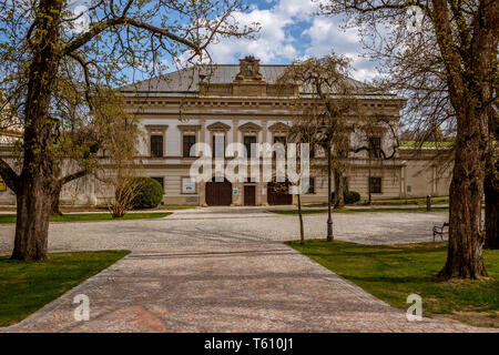 Chateau Nove Mesto na Morave sulla piazza principale, piazza principale, Nove Mesto na Morave, Repubblica Ceca Foto Stock