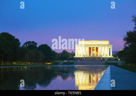 La Abraham Lincoln Memorial in Washington, DC Foto Stock