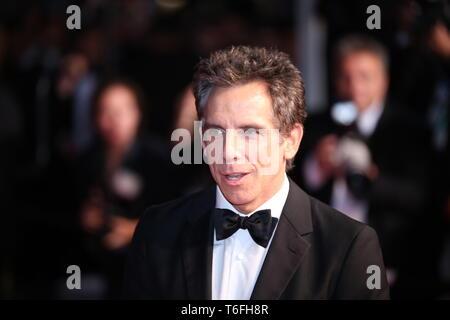 "CANNES, Francia - 21 Maggio 2017: Ben Stiller assiste ""Meyerowitz Stories"" proiezione al settantesimo Cannes Film Festival (Foto: Mickael Chavet) Foto Stock"