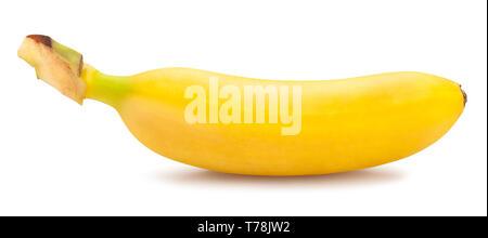 Baby banana percorso isolato Foto Stock