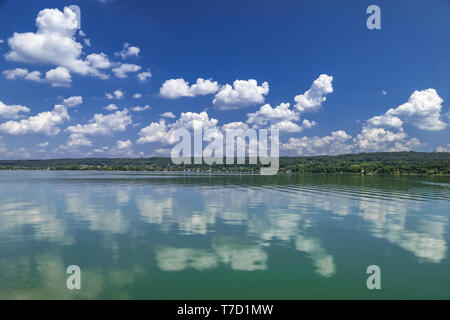 Il Cloud umore alla Ammersee, Baviera, Germania Foto Stock
