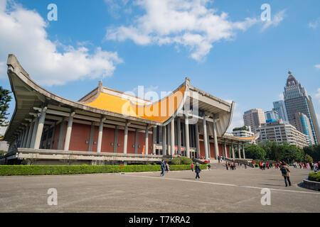 Taipei, DIC 17: vista esterna della Nazionale Dr. Sun Yat-Sen Memorial Hall sul dicembre 17, 2018 a Xinyi District, Taipei, Taiwan Foto Stock