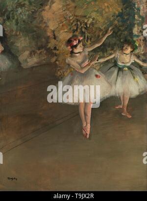 Due danzatori su un palco. Museo: Courtauld Institute of Art di Londra. Autore: EDGAR DEGAS. Foto Stock