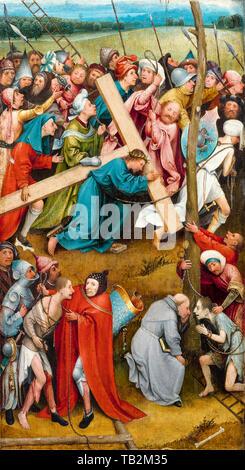 Hieronymus Bosch, il Cristo che porta la croce (Vienna), pittura, circa 1500 Foto Stock