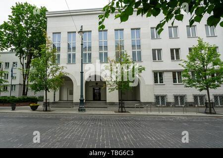 Vilnius, Lituania. Maggio 2019. La sede della Corte Costituzionale edificio Foto Stock