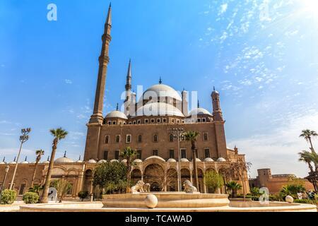 La moschea di Muhammad Ali, Cittadella del Cairo in Egitto.