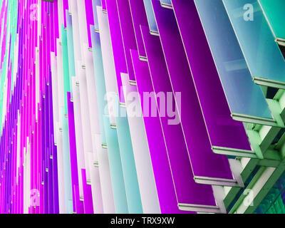 Acrilico Foglio di plastica interni ed esterni hanno aperto un pattern colorati di un concetto di design Foto Stock