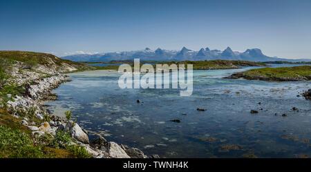 Isola Heroy, Norvegia, estate 2019.
